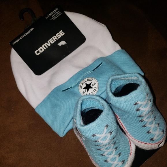 123352cd Converse Accessories | Nwt Cap Booties Set Baby Boy | Poshmark